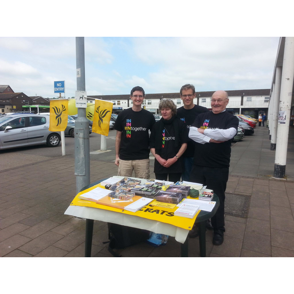 St Thomas Liberal Democrats in campaign mode in Cowick Street