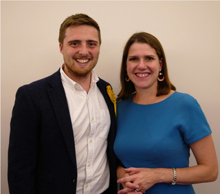 Tom Deakin with Jo Swinson